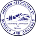 WASC Seal text reads Western Association of Schools and Colleges accreding commission for schools.